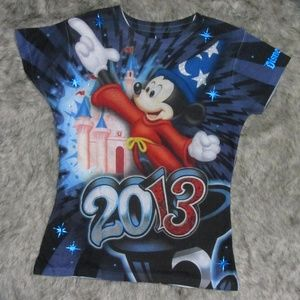 Disney Parks 2013 Mickey Mouse T-Shirt Women's S